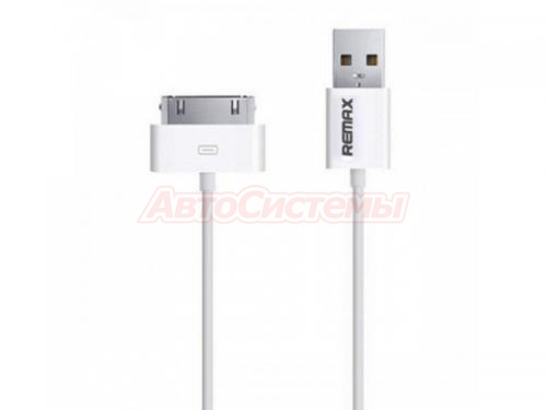 rm-000232 - Дата кабель remax light speed cable iphone 4 (Белый, 100см)