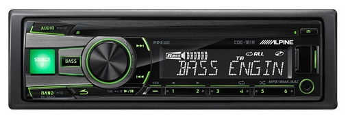 alpine cde-181r cd/mp3-ресивер